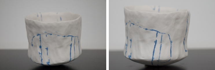 Inchoate Cup ~ Danish Blue lines